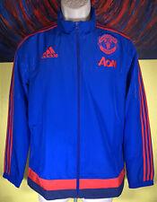 Youth Adidas Manchester United Full Zip Training Jacket Size Large Blue AC1527