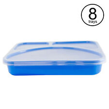 Life Story Meal Prep Reusable Divided Easy to Clean Plastic Lunch Box (8 Pack)