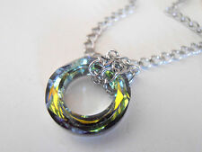 Vitrail Medium Swarovski Pendant Cosmic Ring Necklace in Surgical Steel Chain