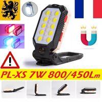 lampe torche LED de Travail PL-XS 7W 800Lm camping bricolage auto rechargeable