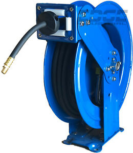 "NEW HEAVY DUTY INDUSTRIAL GRADE HOSE REEL 3/8"" ID X 50FT 300 PSI, DUAL ARM"
