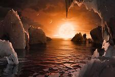 Incorniciato stampa-NASA's illustrazione del pianeta trappist-1f (spazio immagine SOLE)