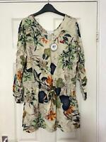 Apricot Beige Floral Dress Size 14 Womens (K559)NEW!!!