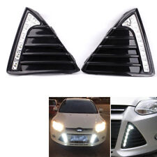 For 11-14 Ford Focus Front Bumper Grille LED DRL Daytime Running Fog Lights 12V