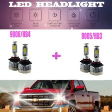 2Pair 9005 +9006 Combo Total 1800W 270000LM LED Headlight Kit Bulbs 6000K