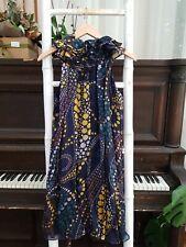 Gorgeous MATTHEW WILLIAMSON 100% Silk Print Sleeveless Midi Dress Size 10 EUC