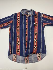 Vintage Wrangler Maroon Western Button Down shirt Pearl Snap Plaid Rockabilly Cowboy Short Sleeve Shirt  vintage western shirt Medium