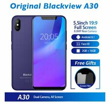 Unlock Blackview A30 3G Smartphone 5.5inch 2GB+16GB Android 8.1 Dual SIM Face ID