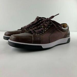 Cole Haan Vartan Sport Oxford Men 8 Brown Leather Fabric Sneaker Lace Up C12397
