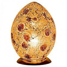 Fabulous Med Mosaic Glass Crackle Autumn Gold Egg Table Lamp Bedside Lm74ga