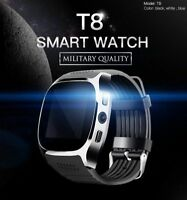 T8 Bluetooth 4.0  Smart Watch Kamera Schrittzähler Schlafüberwachung For iPhone