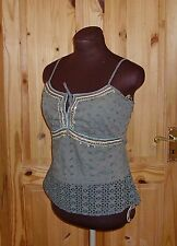 1MAX aqua gold sequin bead broderie anglaise camisole vest top 12 40