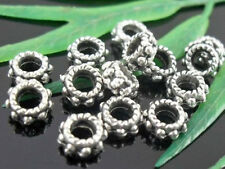 Free Ship 100Pcs Tibetan Silver Spacer Beads Findings 5x3mm