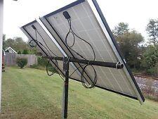 Universal solar panel pole mount kit, holds 2 large panels or 4 100 watt pan.