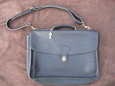 Jack Georges Traditional Classic Satchel Briefcase USA Black Leather handle