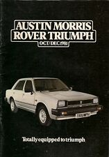 Austin Morris Triumph Rover Mini October-December 1981 UK Market Sales Brochure