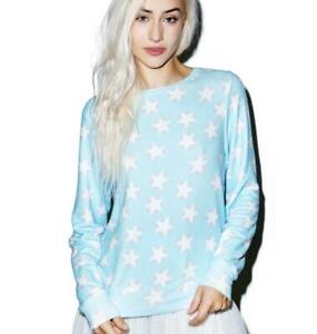 Wildfox Stars And Hearts Baggy Beach Jumper