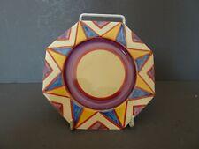 Clarice Cliff. Newport Pottery. Original Bizarre plate. 1927. Very early. Deco
