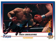 Boxer Fred Liberatore 1991 Kayo SIGNED CARD AUTOGRAPHED