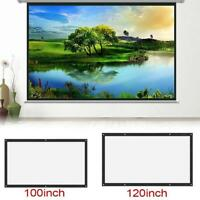 3D HD 16:9 Projector Projection Screen Canvas Wall Mounted For Home Theater