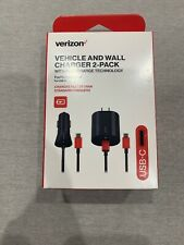 Verizon USB-C Car and Wall Charger Combo Pack