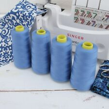 4 BIG CONES SERGER OVERLOCK THREAD SEWING THREADART - 50 COLORS - 2750 YD CONES