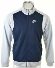 NIKE Mens Tracksuit Top Jacket UK 41/43 Large Navy Blue Polyester  BI14