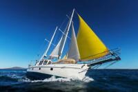 Ocean Sailing in a Yacht Photo Art Print Poster 24x36 inch