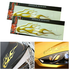 1 Pair Cool Fire Flame Sticker for Custom Car Body Styling | Racing Flame Decal