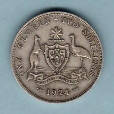 Australia.  1924 Florin..    F+/VF