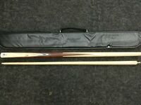 Powerglide Catalyst 2 Piece Grade A Ash Snooker-Pool Cue & Soft Case