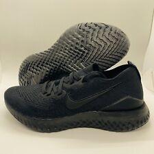 Nike Epic React Flyknit 2 Running Shoes Triple Black Womens Size:8 BQ8927-011