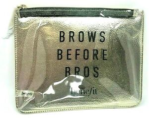 Benefit ❤️  Brows before Bros Makeup Case, Bag, Clear, 9 x 7, Zips Shut!