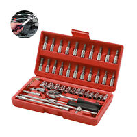46PCS Spanner Socket Screwdriver 1/4 Car Repair Tool Ratchet Wrench Tool Kit USA
