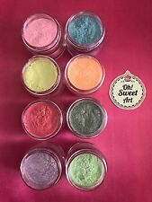 Sparkle Dust II SET 8 colors Fondant  Food Coloring Luster  Decorating 4 gr each