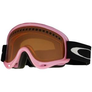 Oakley 02-443 O Frame Light Pink Persimmon Lens Girls Snow Board Ski Goggles .
