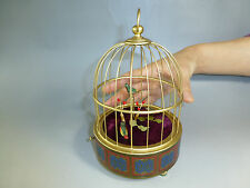 RARE PRE REUGE SINGING BIRD BOX CAGE (3 BIRDS) CLOCKWORK AUTOMATON (WATCH VIDEO)