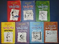 JEFF KINNEY - DIARY OF A WIMPY KID SERIES - 7 SOFTCOVERS - GOOD CONDITION