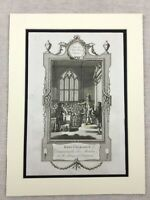 1779 Print King Charles II House of Commons London Original Antique Engraving