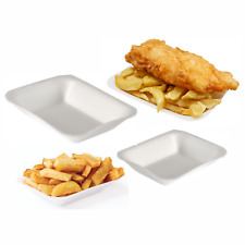 White Chippy Tray Foam Polystyrene Fish & Chips Tray's Takeaway Chip and CT3 CT1