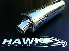 Hawk Suzuki SFV 650 Gladius 2009 09 + Stainless Steel Round Exhaust Can SL