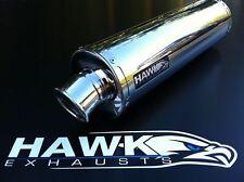 Hawk Suzuki SFV 650 Gladius 2009 09 + Stainless Steel Round Exhaust Can SL