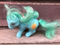VTG 1987 G1 MLP MY LITTLE PONY MAGIC MESSAGE MIRROR BLUE GREEN HAIR