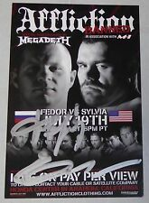 Fedor Emelianenko Signed Official Affliction MMA Photo Card Flyer Pride FC Auto