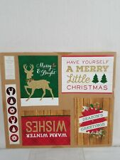 New! Creative Presence Red Green 16 Christmas Greeting Card Do it Yourself Kit