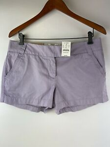 New, J.Crew City Fit Shorts Buttery Twill , Size 8,  Lavender, Cotton,   E