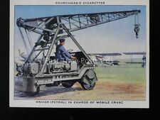 No.38 DRIVER IN CHARGE OF MOBILE CRANE The R.A.F. at Work RAF Churchman 1937
