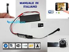 SPY CAMERA SPIA HD WIFI MICROCAMERA NASCOSTA+ MICRO SD 8GB OMAGGIO+MANUALE ITALY