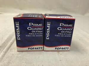 2 Pack Engine Oil Filter Prime Guard POF4477 C01