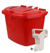Red Kitchen Compost Caddy Food Bin (7 Litre) & Door/Wall Mount Bracket